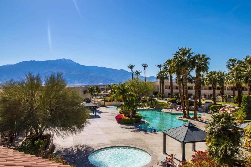 miracle springs resort pool courtyard view